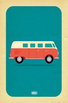 VW Camper Van iphone Wallpaper