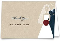 Wedding Thank You Cards - Military Themed - Air Force (USAF) | MagnetStreet