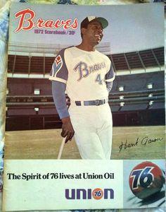 1972 Atlanta Braves scorebook - Hank Aaron - great condition - Bids start at $9.99