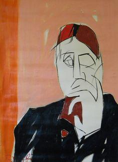 Ritratto di Marcel Proust. Portrait of Marcel Proust. 1993. Gabriele Donelli