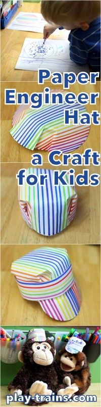 Paper engineer 39 s hat craft for kids from www for Craft hats for kids