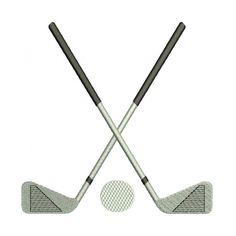 Golf Club Machine Embroidery Digitized Design Filled Sport Pattern - Instant Download - 4x4 , 5x7, 6x10