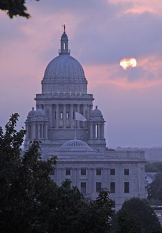 Here's a lovely shot of the Rhode Island State House, with the Independent Man crowning the top.