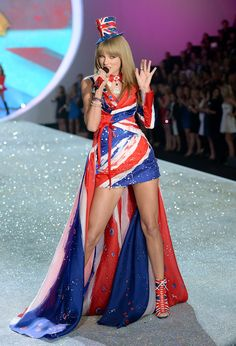Taylor Swift performing at the Victoria's Secret Fashion Show