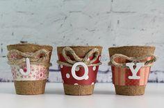 Decorative Christmas Evergreen Pots