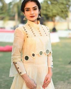 Mirror work dress designs, Mirror work suit neck designs, mirror work dresses in Pakistan, unique mirror work on kurti, blouse and trousers Designer Party Wear Dresses, Kurti Designs Party Wear, Indian Designer Outfits, Indian Outfits, Kurti Sleeves Design, Kurta Neck Design, Sleeves Designs For Dresses, Sleeve Designs For Kurtis, Simple Kurti Designs