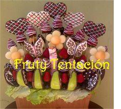 Ideal para sorprender! Piña, fresas, melón, uvas, manzana y masmelos, al natural y con chocolate