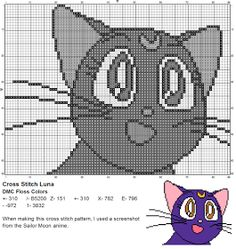Dork Stitch: Another Mascot Character Pattern, This Time from Sailor Moon!