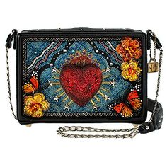 Mary Frances Accessories – Day of the Dead Crossbody Handbag for Women – 8.25 Inches x 2.25 Inches x 6.25 Inches