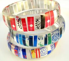 Love these recycled soda can resin bangles by Stephanie of Modern Vintage