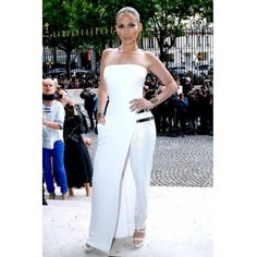 USD15.49Cheap Celebrity Sexy Strapless Off The Shoulder Sleeveless Solid White Regular Jumpsuit Dress