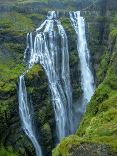 Glymur waterfall -