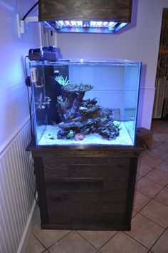 93 rimless cube with wall mounted floating canopy with ATI power module . : aquarium canopy ideas - memphite.com