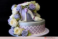 hat boxes (tiered) decorated to look like a cake!! (yes, this photo is an actual cake... but w/e!)