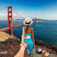 """#followmeto San Francisco with @NatalyOsmann for an afternoon at the Golden Gate Bridge.  @beringervyds #BetterBeckons."" Photo taken by @muradosmann on Instagram, pinned via the InstaPin iOS App! http://www.instapinapp.com (10/15/2015)"