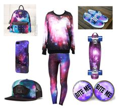 """""""Galaxy"""" by sophierocks32 ❤ liked on Polyvore featuring Vans, Sprayground and D-Street"""