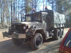 another picture of my m35a2c deuce and a half as it sits right now in my driveway. A tip. Other drivers think these trucks can stop on a dime but they cannot. I have been in multiple situations where other drivers pull in front of me and I lock the brakes to keep from hitting the vehicle. So for safety purposes always drive with your head lights on and drive defensively.