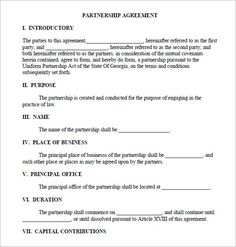 Printable sample partnership agreement sample form real estate business partnership agreement pdf motorhomes rent choice business management http templates freeresume flashek Gallery