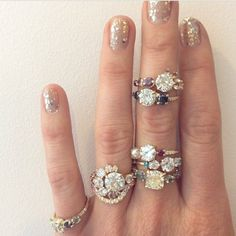 """27 Likes, 1 Comments - Elika In Love (@elika.in.love) on Instagram: """"Sparkly...    Jewelry by Mociun. #wedding #bridal #sparkles #mociun  #nyc #engagementring"""""""