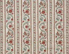 Bordure florale polychrome de style Louis XVI  1785-1790.