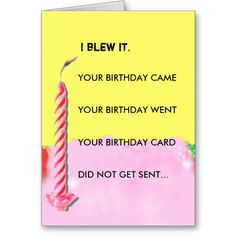 31 Happy Belated Birthday Wishes with Images - My Happy Birthday Wishes Funny Belated Birthday Wishes, Birthday Card Sayings, Birthday Sentiments, Card Sentiments, Happy Birthday Cards, Birthday Quotes, Birthday Blessings, Late Birthday, Verses For Cards