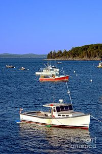 Boats Photograph - Maine Lobster Boat by Olivier Le Queinec