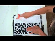 Jane Davies has a huge series of short, clear art videos on a wide range of topics. Here she shows how using a sponge roller, as opposed to a dauber, can help you to make stencilled pages quickly.