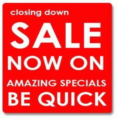 MASSIVE CLOSING DOWN SALE NOW ON!  We are closing our doors at the end of January 2015, so we are clearing stock!!!  40% OFF Melissa & Doug - 50% OFF the rest of the entire stock!!! Lush Bath, Wax Tarts, Huge Sale, Closer, Fragrance, Album, Amazing, Bookmarks, Bubbles