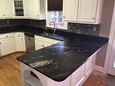 titanium granite countertops with white cabinets - Google Search