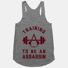Training To Be An Assassin | T-Shirts, Tank Tops, Sweatshirts and Hoodies | HUMAN