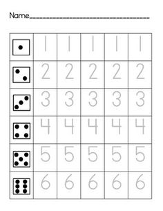 Number Formation:  Roll, Count, and Trace