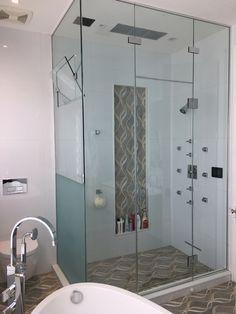 Shower Enclosures Types: Frameless, Semi-Frameless and Framed Frameless Shower Enclosures, Modern Shower, Shower Doors, Shower Ideas, Bathtub, Backyard, Standing Bath, Patio