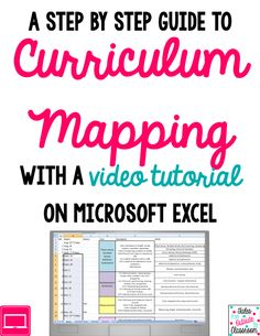 A step by step guide to the curriculum mapping process with an in depth video on using Excel to manage your map.
