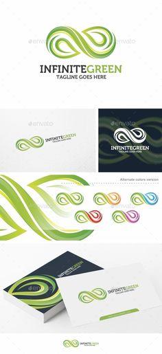 Infinite Green - Logo Template Vector EPS, AI Illustrator #logotype Download here: http://graphicriver.net/item/infinite-green-logo-template/15030387?ref=ksioks