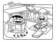 spring reading coloring pages