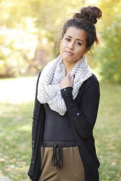 Striped Scarf @lmndropboutique