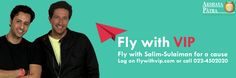 A chance to fly with #Celebrity(Salim & Sulaiman). Participate by donating Rs. 100 to Akshaya Patra.