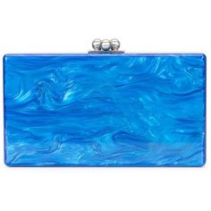 Edie Parker marbled effect clutch (8.440 DKK) ❤ liked on Polyvore featuring bags, handbags, clutches, blue, edie parker clutches, acrylic purse, blue purse, blue handbags and blue clutches