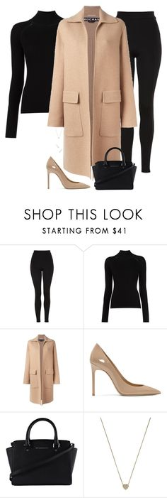 """""""Untitled #1087"""" by bellax01 ❤ liked on Polyvore featuring Topshop, Rochas, Yves Saint Laurent, Michael Kors and Nephora"""