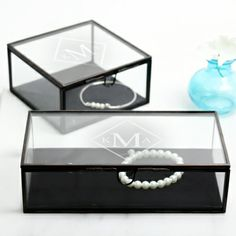 Antique Glass Shadow Jewelry Box(OUT OF STOCK, Available 5/20)