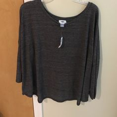 Long sleeve top Grey old navy long sleeve top. Loose fit. Brand new with tags Old Navy Tops