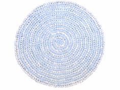 31 Round Rag Rug Blue Shades  Upcycled cotton by MagicByCrochet