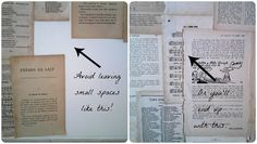 much more than the birds: diy book page wallpaper