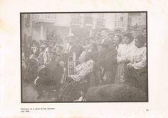 Titiriteros en la Plaza San Severino de #Balmaseda en 1896