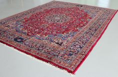 Red 10' x 12' 8 Mashad Persian Rug   Persian Rugs   eSaleRugs
