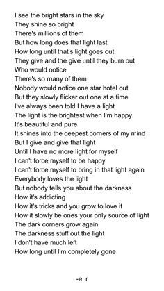 Depression and stars