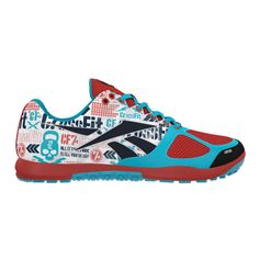 ♥♥♥ WOMEN'S REEBOK CROSSFIT NANO 2.0 ♥♥♥ CrossFitter's get ready! The Reebok CrossFit Nano 2.0. has an upper designed for lateral support, and a low profile platform that balances cushioning and stability so you can stay quick, safe and comfortable through even the toughest WODs. We really like the psychadelic graphics. What do you think? If you like them too, pin them for later.