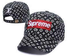 01c36201808 Louis Vuitton LV X Supreme Cap Fashion Black White