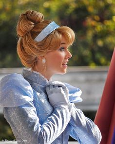 Princess Cinderella. This cinderella looks the most like the cartoon than any other Disneyland princess I've seen. This is my dream, someday. Not necessarily Cinderella, but to be a princess.