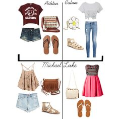 preference- Summer stroll I'd wear any of them. 5sos Inspired Outfits, 5sos Outfits, Dress Outfits, Cute Outfits, Fashion Outfits, Fashion Styles, Dresses, 5sos Preferences, Back To School Fashion